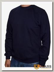 Толстовка-джемпер (осень) без капюшона темно-синяя