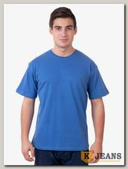 Футболка мужская Мос Ян Текс темно-голубой