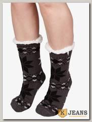 Носки-тапочки женские меховые D-06-3
