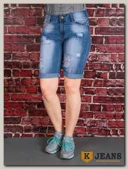 Бриджи женские джинсовые Settanta ZQ7026B