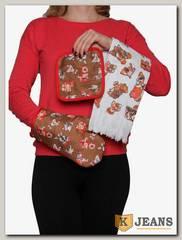 Комплект подарочный полотенце/прихватка/рукавица НКП-006-2