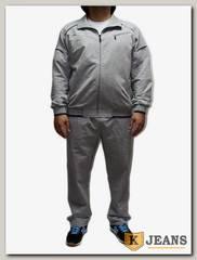 Костюм спорт. муж Billcee В-084-1, серый-меланж