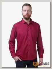 Рубашка мужская однотонная Platin LU-3930