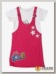 Комплект сарафан с футболкой для девочки Cool Bear 0903-3
