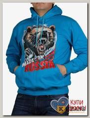 "Толстовка-кенгуру (осень) бирюза ""Made in Russia"" МТКП-2119"