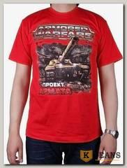 """Футболка мужская принт """"Armored Warfare"""" красный"""