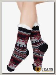 Носки-тапочки женские меховые D-01-3