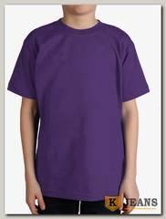 """Футболка подростковая для мальчика с коротким рукавом цвет """"фиолетовый"""""""