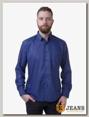 Рубашка мужская однотонная Platin LU-3918