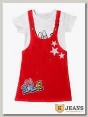 Комплект сарафан с футболкой для девочки Cool Bear 0903-2