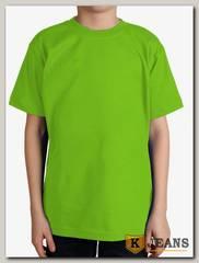 """Футболка подростковая для мальчика с коротким рукавом цвет """"салатовый"""""""
