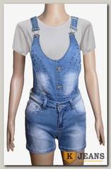 Комбинезон женский джинсовый с шортами Haodi HD99-158