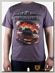 "Футболка мужская принт ""World of Tanks"" темно-серый"